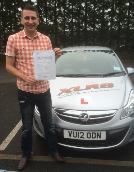 41115 - I passed my test today with only 1 minor thank you Peter for believing in me what an awesome instructor I canacute;t praise XLR8 enough<br />