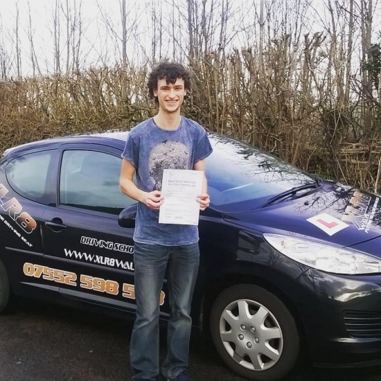 2712016 - A big well done goes out to Ashley today for passing his driving test in Abergavenny first time with just two teeny minors Well done