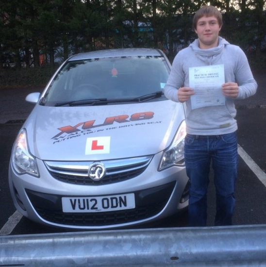 271115 - Congratulations to Bregan Edwards on passing his driving test in Merthyr Tydfil 1st time what a lovely result
