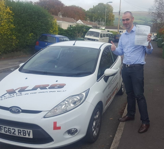 11116 - What a stunning result for Brian who passed his driving test in Merthyr Tydfil 1st time with us