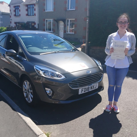 26.6.18 - Congratulations Caitlin Harding on passing her test today in Merthyr Tydfil lovely result now enjoy the freedom of the open road