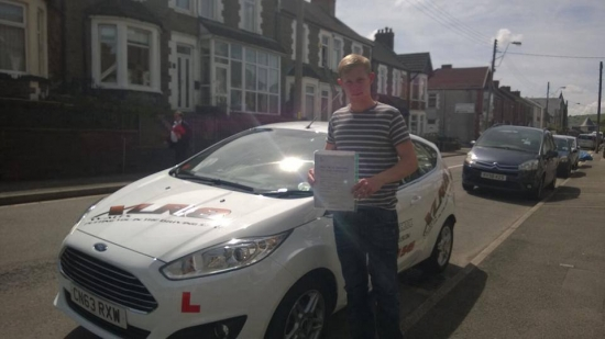 110614 Big congratulations to Carl Jones on passing his driving test first time in Pontypridd with only 1 fault after only 16 hours What a result