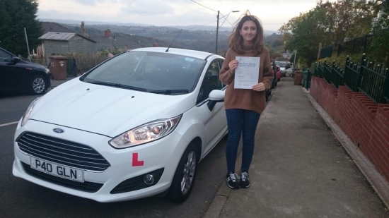 261015 - Congratulations to Casey Jones on passing her test first time in Merthyr Tydfil knew you would do it 😃 have fun car shopping over the holidays