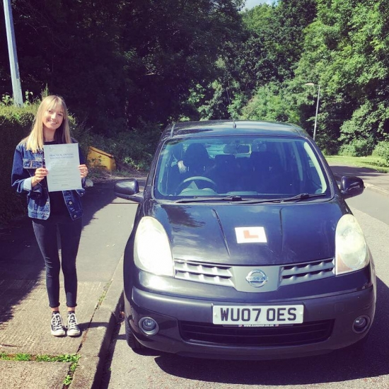 15617 - A massive well done to Charlotte for passing her automatic driving test today in Newport First time and with just three tiny minors Amazing result Charlotte told you you didnacute;t need to be nervous :-