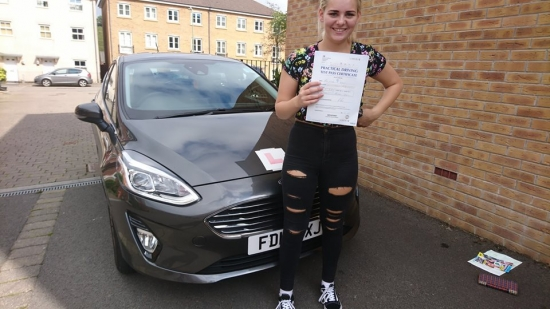 21.8.18 - Congratulations to Chloe Scarfe on passing her test today in Merthyr Tydfil with only 5 faults lovely result now time to get your car on the road