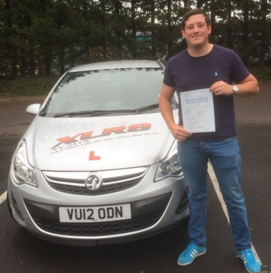 6815 - What a stunning result from Chris Davies who passed his driving test today in Merthyr Tydfil with ONLY 2 minors Chris went with our instructor Peter We are all really chuffed for you :-
