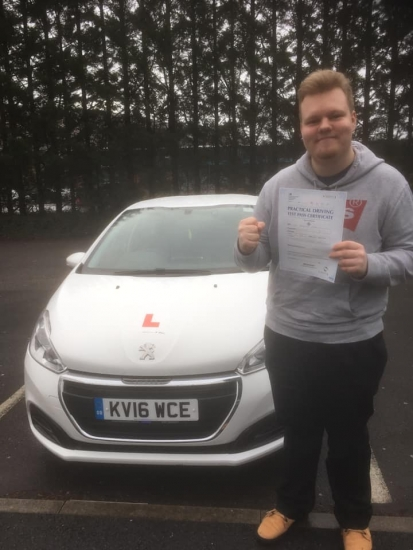 22.3.19 - Congratulations to Chris Radzilla on passing his test first time with only 4 minor faults with our Peter. Enjoy your driving Chris.
