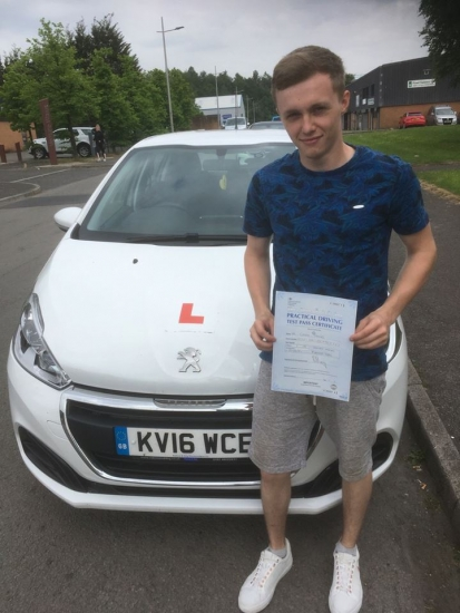 7.6.18 - Congratulations to Corey Davies who passed his driving test today in Merthyr with our Peter!!