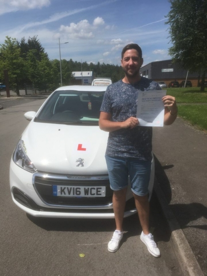20617 - Congratulations to Craig Sampson who passed his test 1st time with our Peter Watts in Merthyr Tydfil