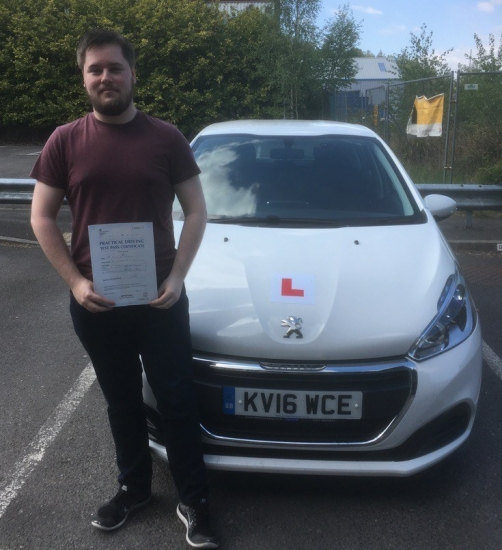 4517 - Congratulations to Daniel Hughes who passed his driving test in Merthyr Tydfil with our Peter lovely result