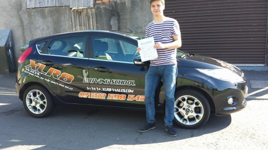160514 Well done Ed Wardle on passing your driving test first time with only 2 minor faults at pontypridd Amazing result