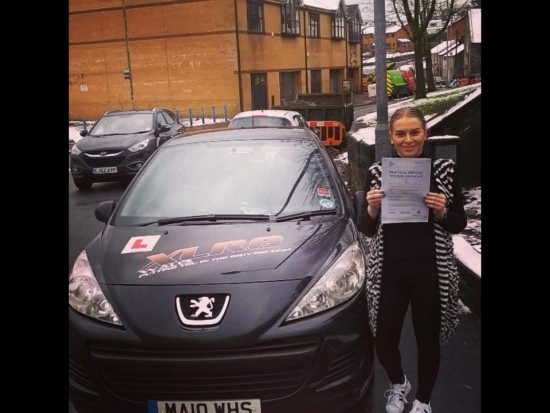 14115 - Well done Emily on passing your driving test today in Abergavenny with just 3 minors and first time too Amazing result considering the poor driving conditions in the snow
