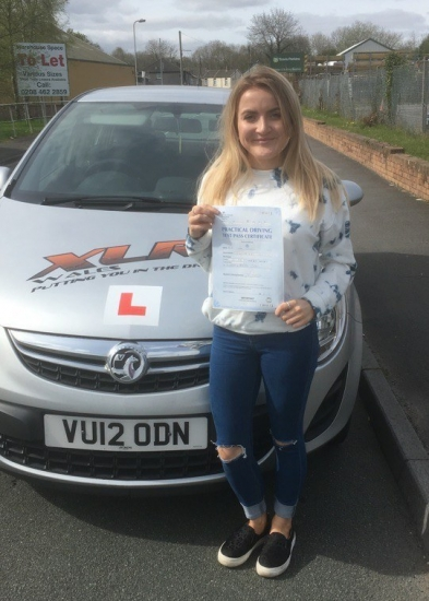 11417 - Congratulations goes out to Emma Wakeley who passed her driving test today in Merthyr Tydfil with our Peter lovely job