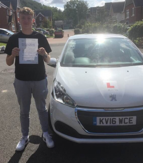 4.9.2019 - Congratulations to Ethan Reynolds on passing his driving test today with our Peter... Well done and drive safe 🚗�