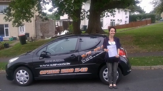 2992014 - Well done Gabby on passing your test today in Newport with just four minors Amazing result and well deserved