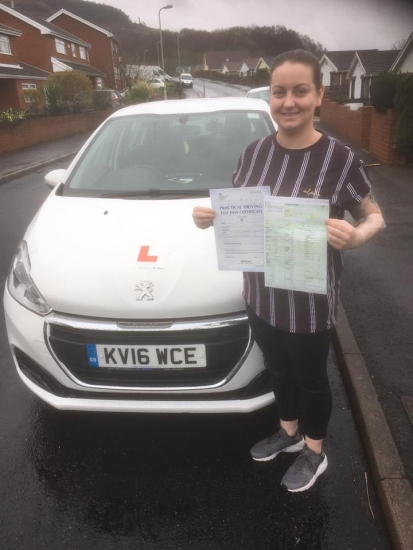 10.3.19 - Congratultions to Hayley Samuel on passing her driving test with our Peter with ZERO driving faults... what a stunning result!! Drive safe