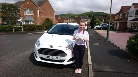 8617 - Congratulations to Hope Morgan on passing her test this afternoon in Pontypridd first time with only 4 faults awesome job