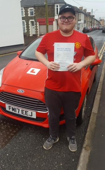 4118 - Congratulations goes out to Ieuan who passed his driving test 1st time today You worked so hard for this and deserved this pass Well done lovely well proud of you :-