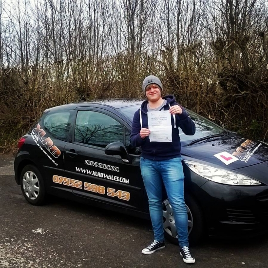 2222016 - Well done James on passing your driving test today in Abergavenny with just 4 minors Super chuffed matecongrats