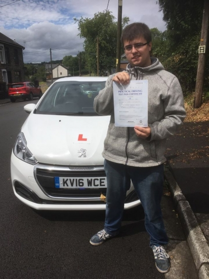 30.7.18 - Congratulations to Jermaine Cole on passing his test in Merthyr 1st time with our Peter!!