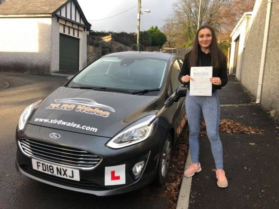 27.11.19 - Congratulations to Jess Brooks on passing her test today in Merthyr Tydfil first time with only 2 faults awesome result 😊