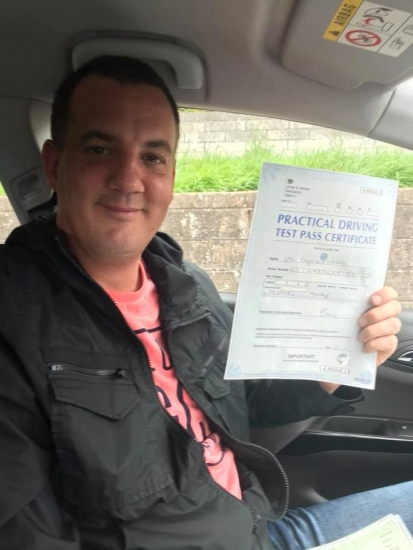 3.9.18 - Congratulations to John on passing his driving test 1st time in Merthyr.... stunning result 🚦🚘