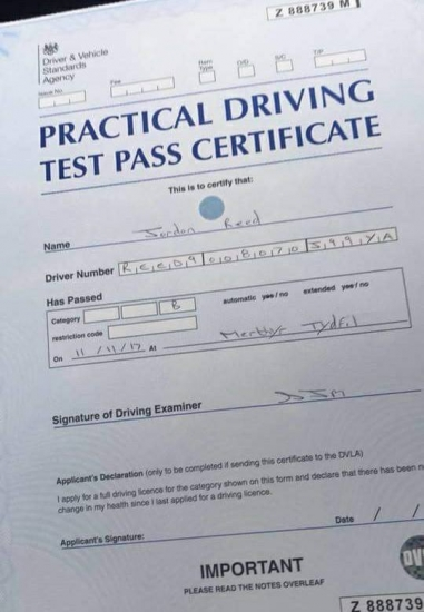 11112017 - Passed my test first time would highly recommend Ali Brooks what a fantastic instructor x<br />