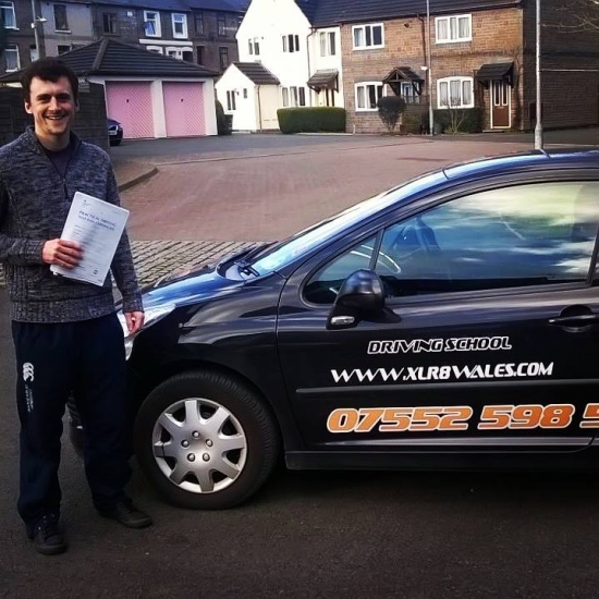 4215 - Cheers lads and ladyacute;s Great instructorswould thoroughly recommend them<br /> <br /> <br /> <br /> Well done Josef for passing your driving test today in Abergavenny with just 5 minors and the added pressure of two examiners in the car too Excellent result :-