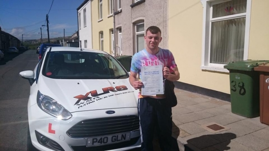 12515 - Congratulations to Joshua Jones on passing his driving test in Merthyr Tydfil 1st time with only 3 minors