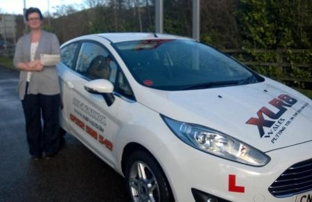 4214 - A massive congratulations to Julie from Aberbargoed on passing her driving test today in Merthyr Tydfil with only ONE minor another fantastic result Well Done From Everyone at XLR8 Wales :-