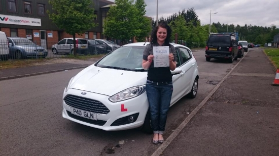 25516 - Congratulations to Karly Jayne Adams on passing her test today in Merthyr Tydfil with only 3 minors looking forward to seeing you out in your new car :-
