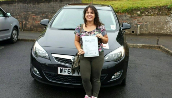19914 - Well Done To Kathryn who passed her Automatic Driving Test today in Merthyr Tydfil after only 25 hours of driving tuition Lovely Result - We are all really chuffed for you :-