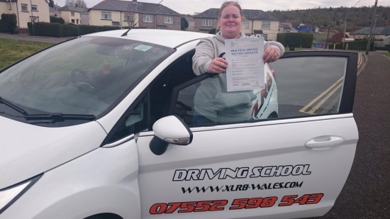 18415 - Congratulations to Kirsty White on passing her driving test at Merthyr Tydfil with only 3 minors Thank you for the card and drinks :-