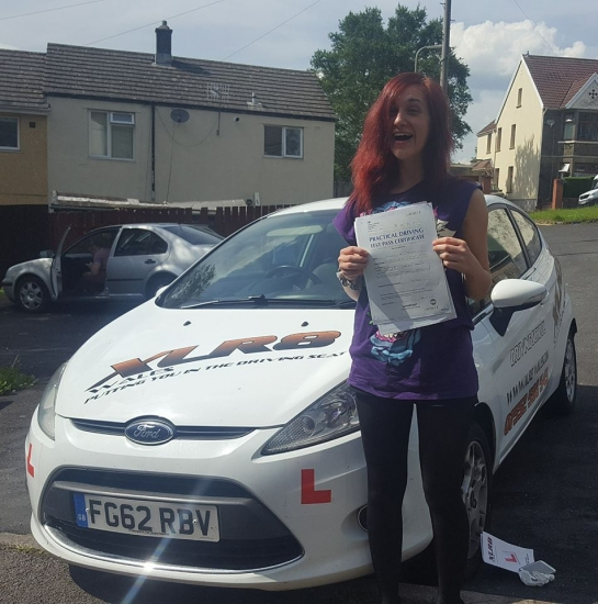 19617 - NEVER in a million years did I think Iacute;d pass first time Thank you Ali for having faith in me even when I didnacute;t Iacute;ll be recommending xlr8<br /> <br /> <br /> <br /> One little happy bunny :- Congratulations to Lauran on passing her driving test 1st time after taking a semi intensive driving course after lots of snot tears and sheer grit you did it woohoooo