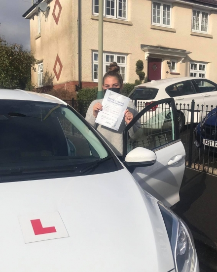 Congratulations to Lauren who passed her test 1st time in Merthyr Tydfil with Ali... you worked incredibly hard for this and really deserve this win!!