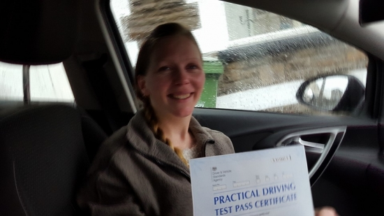 11215 - A massive well done to Leanne on passing her automatic driving test with just 2 tiny minors what a brilliant result :-