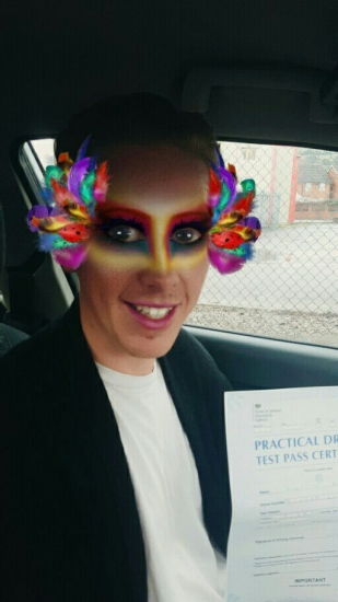131216 - Congratulations goes out to Lewis who passed his driving test today with only 2 minor faults lovely result you also turned out looking spectacular for your test :-