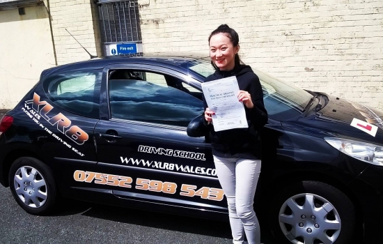 5716 - A big well done to Linh for passing her driving test today in Abergaenny with just 2 minors A-M-A-Z-I-N-G result