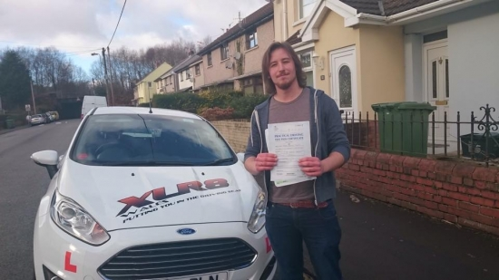 6115 - Congratulations to Luke Taylor on passing his test first time today in Merthyr Tydfil with only 2 minors with the added stress of two examiners in the car