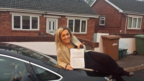 41214 - A massive well done to Magda for passing her automatic driving test today Brilliant result and we are really proud of you especially after only 14 hrs of lessons