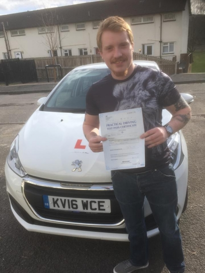14.3.19 - Congratulations to Matthew Roach on passing his driving test in Merthyr with our Peter... safe driving 🚦🚗