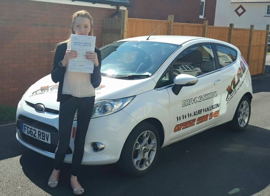 31715 - Ali made my lessons so enjoyable and fun Could never have passed my test first time without her 100 recommend<br /> <br /> <br /> <br /> Congratulations to Megan Price on passing her driving test 1st time in Merthyr Tydfil todayRESULT Enjoy driving your mini x