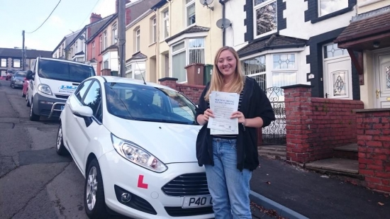 91015 - Congratulations to Melissa Stephens on passing her test today in Merthyr Tydfil no more busses for you now :-