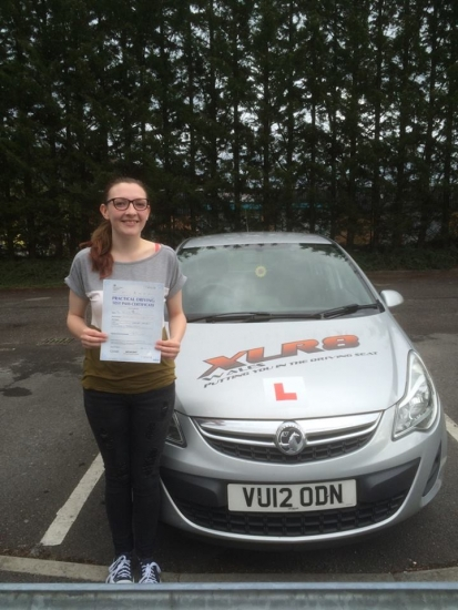 23916 - Congratulations to Melissa Watkins on passing her driving test today in Merthyr Tydfil with only 2 minors with our Peter