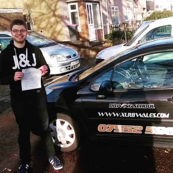81215 - Congratulations Mike on passing your driving test today in Abergavenny FIRST TIME and with just 4 minors See you soon fella :-