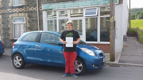 250614 Congratulations to Morgan Hammacot on passing his driving test first time in Pontypridd after only 20 hours