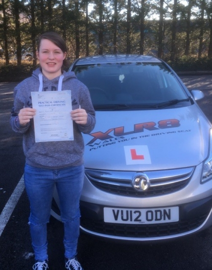 20117 - Congratulations goes out to Morgan Rogers who passed her driving test 1st time today in Merthyr Tydfil with our Peter :-