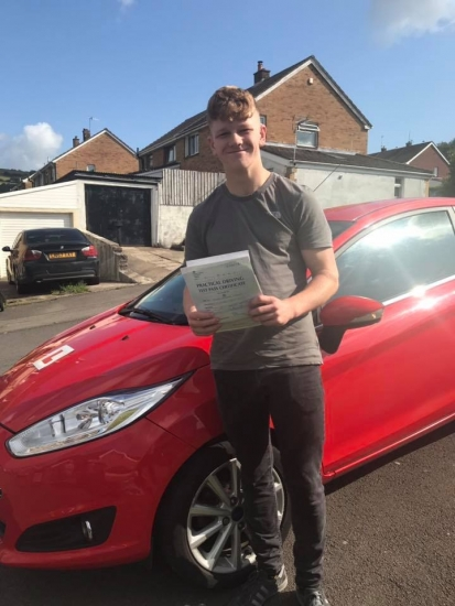 13.8.19 - Congratulations to Owen on passing his driving test today in Merthyr 1st time.... Safe Driving 🚘🚦