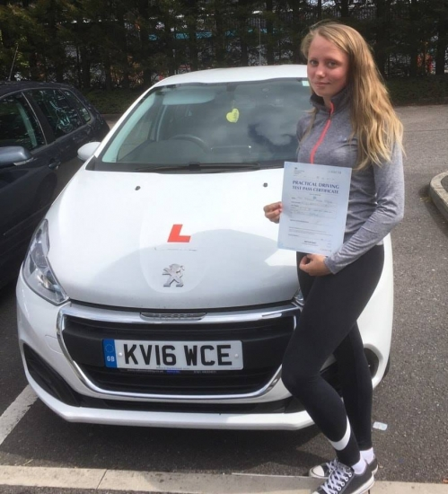 1.8.18 - Congratulations to Rebecca Hughes who passed her driving test today 1st time with our Peter