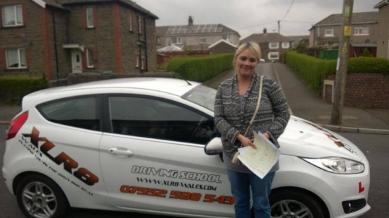 250414 Big congratulations to Rhian Thomas on passing her driving test first time in Merthyr Tydfil with Glenn knew you could do it rhi